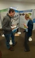 Looking at a poster at UKEOF 2020 conference