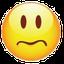 Upset / worried smiley