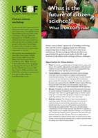 Future of citizen science leaflet (front cover)