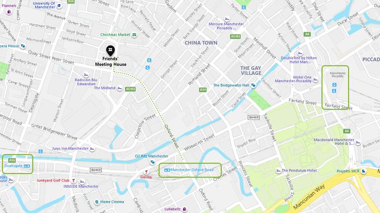 Venue location map